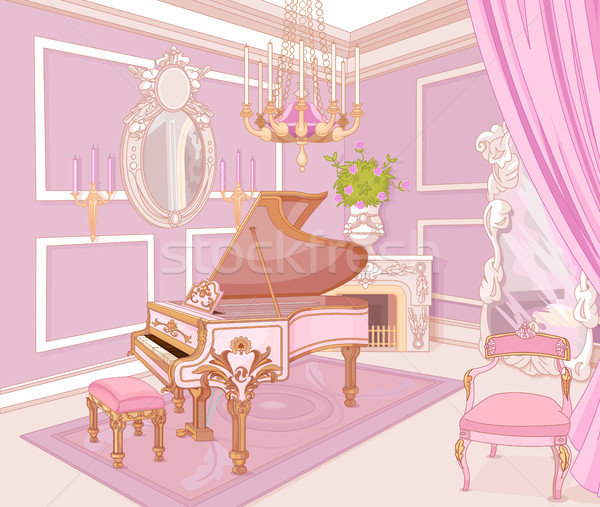Princess Music Room Stock photo © Dazdraperma