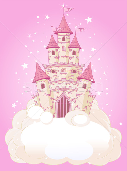 Pink Sky Castle Stock photo © Dazdraperma