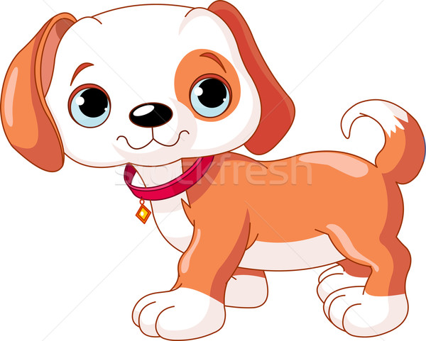 Cute puppy lopen Rood hond Stockfoto © Dazdraperma