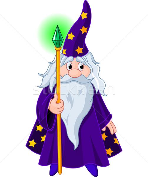 Wizard with staff Stock photo © Dazdraperma