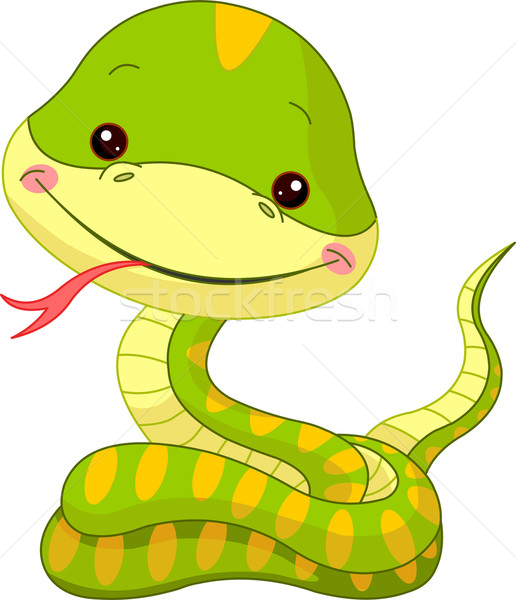 Amusement zoo serpent illustration cute bébé Photo stock © Dazdraperma