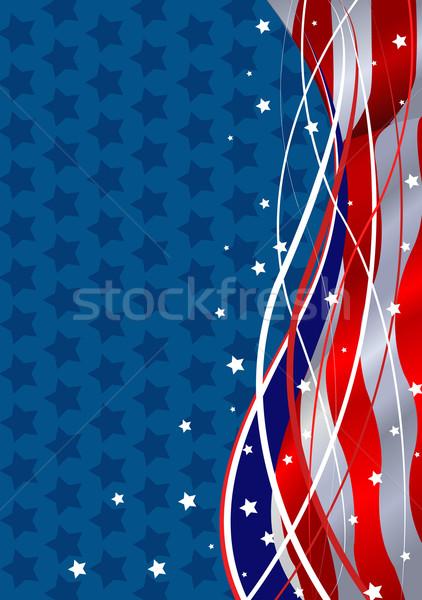 Patriottico stelle quarto bandiera bianco Foto d'archivio © Dazdraperma