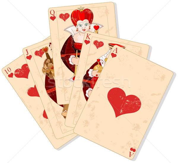 Hearts royal flush Stock photo © Dazdraperma