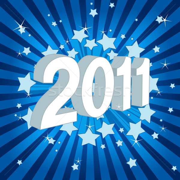 Szczęśliwego nowego roku 2011 elementy osobno Zdjęcia stock © Dazdraperma