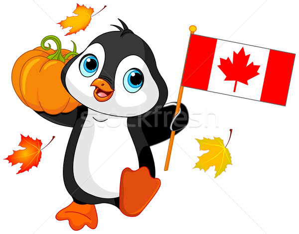 Canadian Thanksgiving Day Penguin Stock photo © Dazdraperma