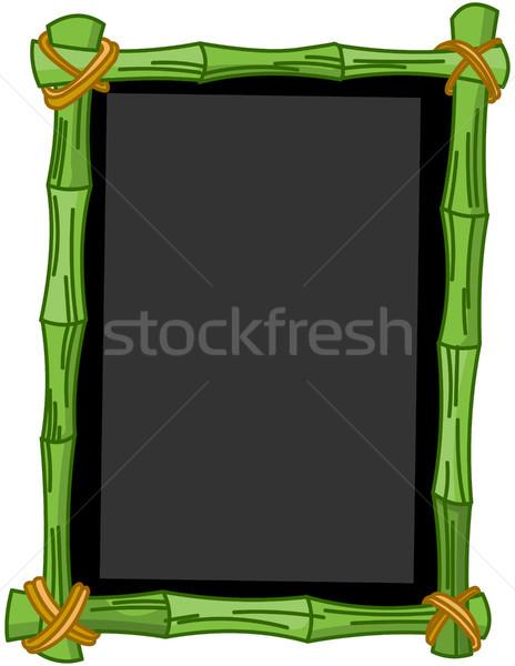 Bambu quadro-negro ilustração quadro arte assinar Foto stock © Dazdraperma