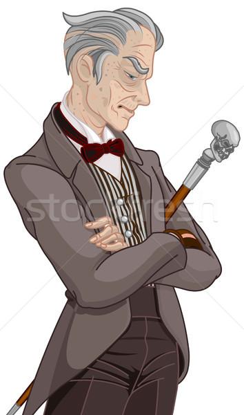 Era cavalheiro ilustração jovem homem arte Foto stock © Dazdraperma