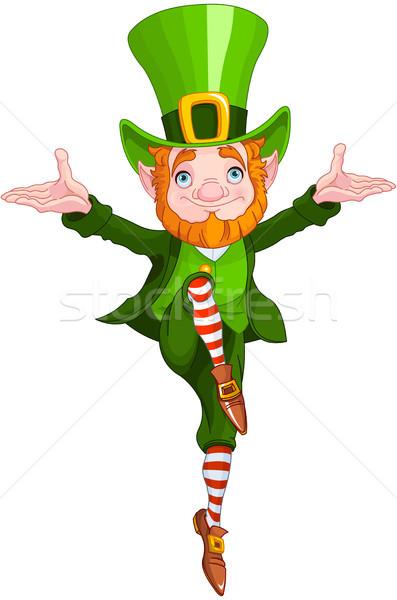 Lucky Dancing Leprechaun Stock photo © Dazdraperma