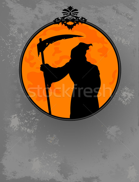Halloween Grim Reaper  silhouette Stock photo © Dazdraperma