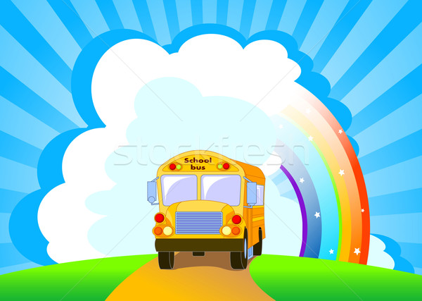 Yellow School Bus background Stock photo © Dazdraperma