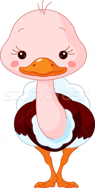 Diversão jardim zoológico avestruz ilustração bonitinho bebê Foto stock © Dazdraperma