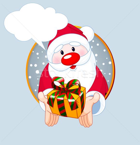 Geschenk christmas wenskaart cute kerstman Stockfoto © Dazdraperma