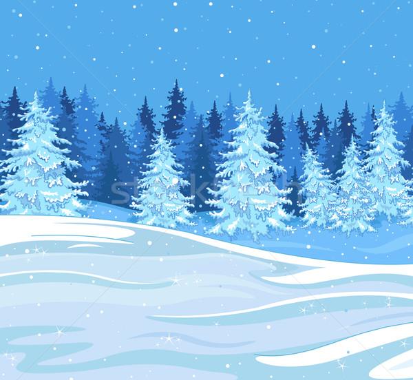 Winter landscape Stock photo © Dazdraperma