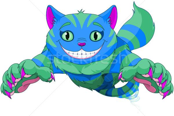 Cheshire Cat jumping Stock photo © Dazdraperma