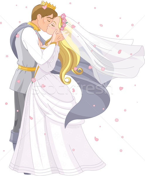 Wedding royal couple Stock photo © Dazdraperma