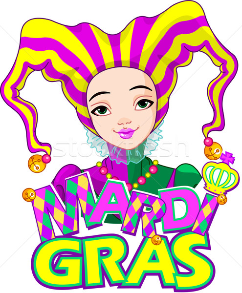 Mardi Gras harlequin design Stock photo © Dazdraperma
