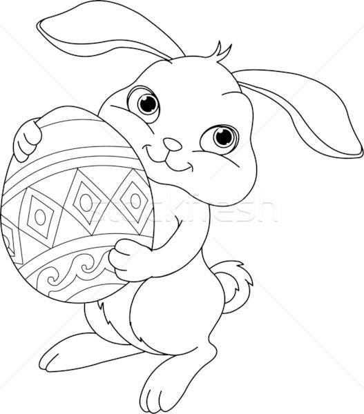 Easter Bunny pagina illustratie vrolijk pasen bunny Stockfoto © Dazdraperma