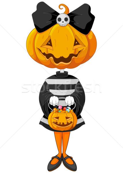 Halloween trick or treating girl  Stock photo © Dazdraperma