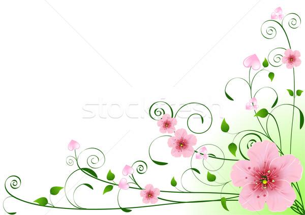Foto stock: Amor · corações · flores · floral · lugar
