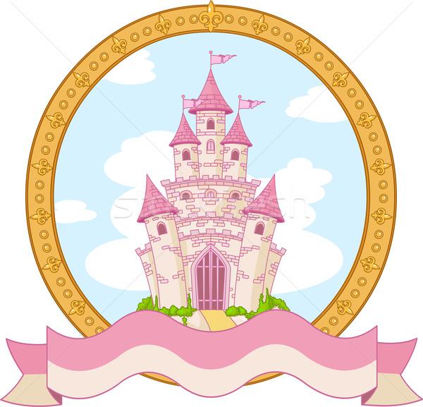 Princesa castelo projeto magia etiqueta edifício Foto stock © Dazdraperma