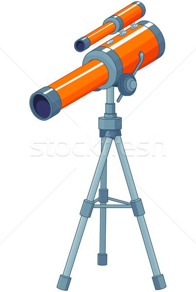 Telescoop illustratie glas kunst kaart tool Stockfoto © Dazdraperma