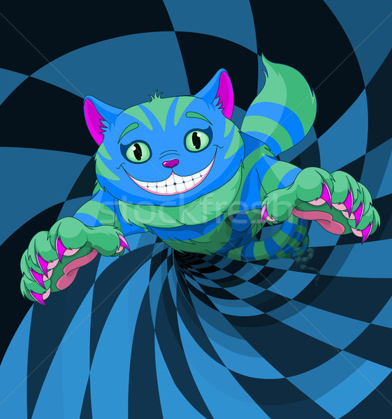 кошки прыжки страна чудес кролик дыра улыбка Сток-фото © Dazdraperma