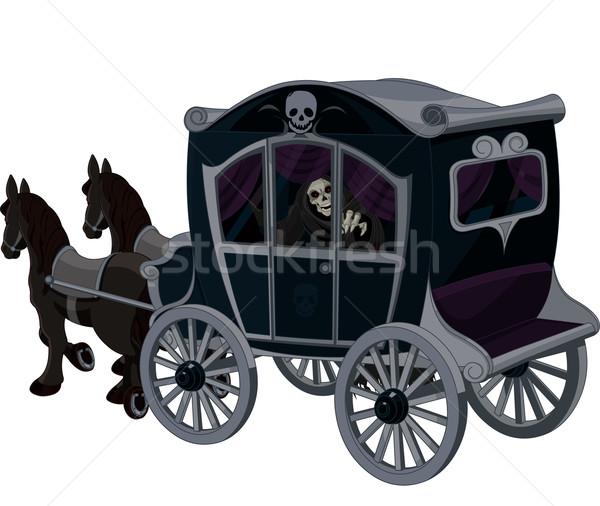 Halloween fuvar illusztráció utazás szállítás kép Stock fotó © Dazdraperma