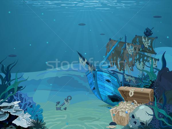 Destruir ilustração veleiro natureza mar oceano Foto stock © Dazdraperma