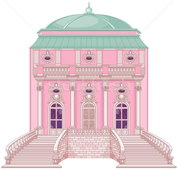 Romantikus palota hercegnő aranyos épület Európa Stock fotó © Dazdraperma