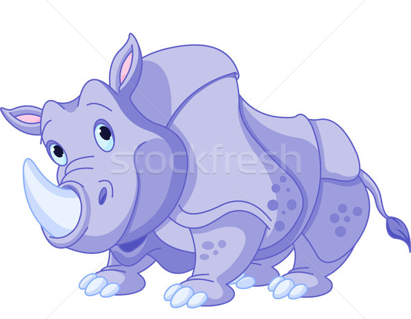 Cartoon rhino  Stock photo © Dazdraperma