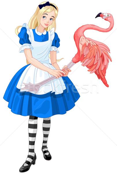 Alice Plays Croquet  Stock photo © Dazdraperma