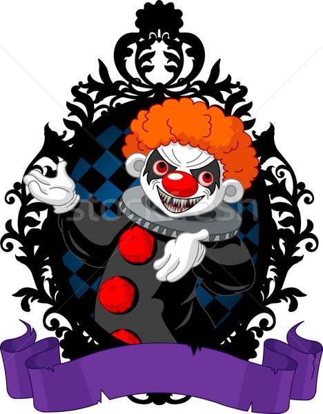 Halloween clown nero frame arte Foto d'archivio © Dazdraperma