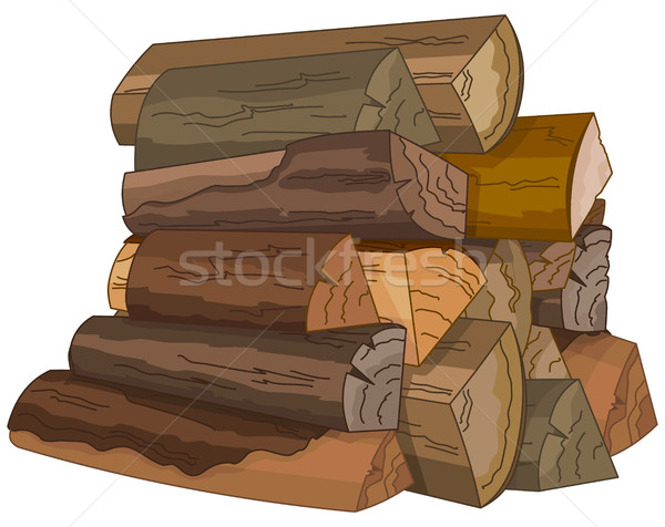 The Logs of Fire Wood Stock photo © Dazdraperma