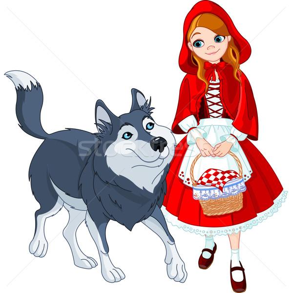Сток-фото: мало · красный · верховая · езда · волка · заседание · искусства