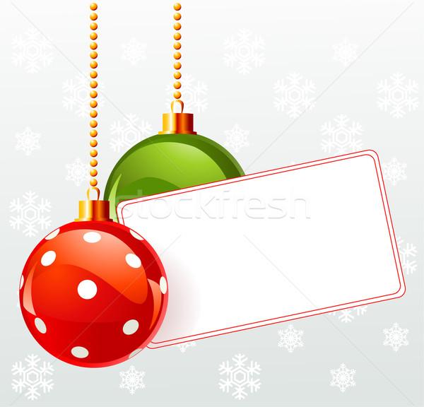 Label christmas decoratie witte business achtergrond Stockfoto © Dazdraperma