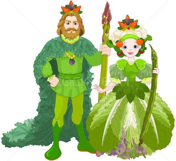 Légumes royal couple illustration art couronne Photo stock © Dazdraperma