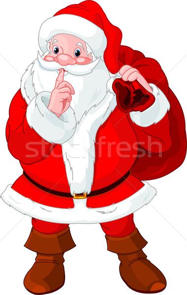 Santa Claus gesturing shush Stock photo © Dazdraperma
