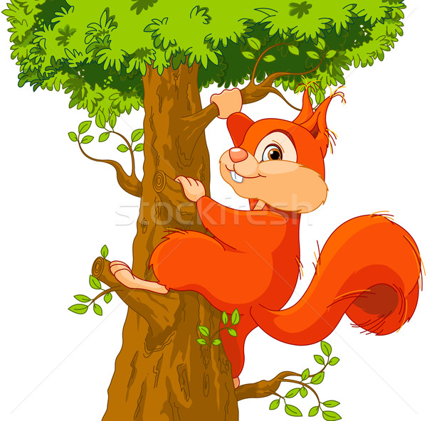 Stock photo: Squirrel on the tree