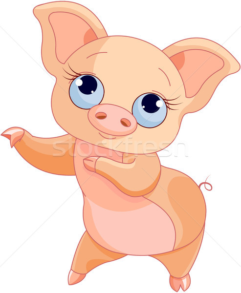 Pig Dance Stock photo © Dazdraperma