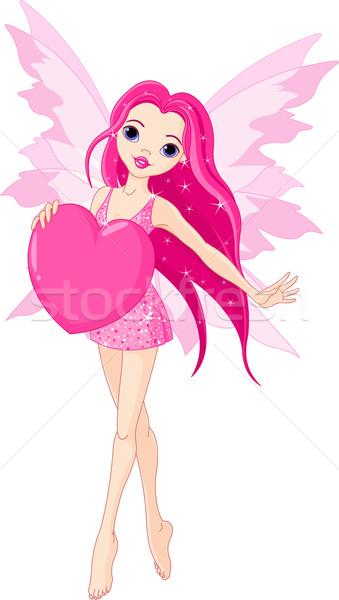 Amor fadas belo coração Foto stock © Dazdraperma