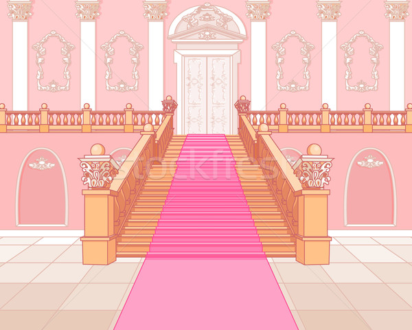 Luxury staircase in palace Stock photo © Dazdraperma