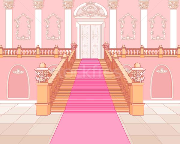 Luksusowe schody pałac magic tle wnętrza Zdjęcia stock © Dazdraperma