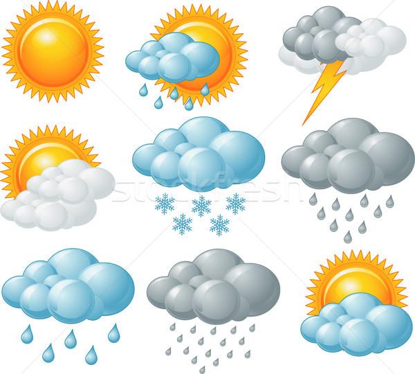 Weather icons Stock photo © Dazdraperma