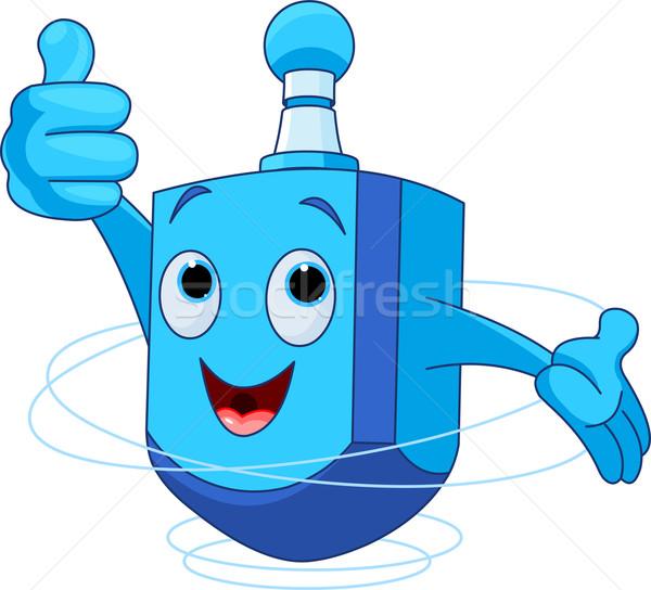 Personnage cute heureux bleu jouet Photo stock © Dazdraperma