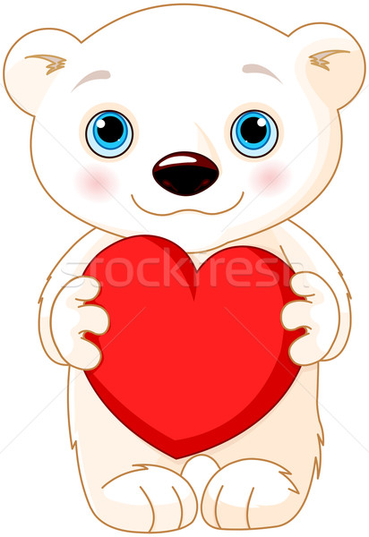 San Valentín día oso polar ilustración cute boda Foto stock © Dazdraperma