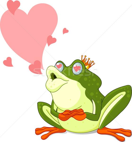 Rana príncipe espera clip art amor feliz Foto stock © Dazdraperma