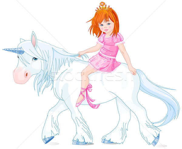 Princess on Unicorn Stock photo © Dazdraperma