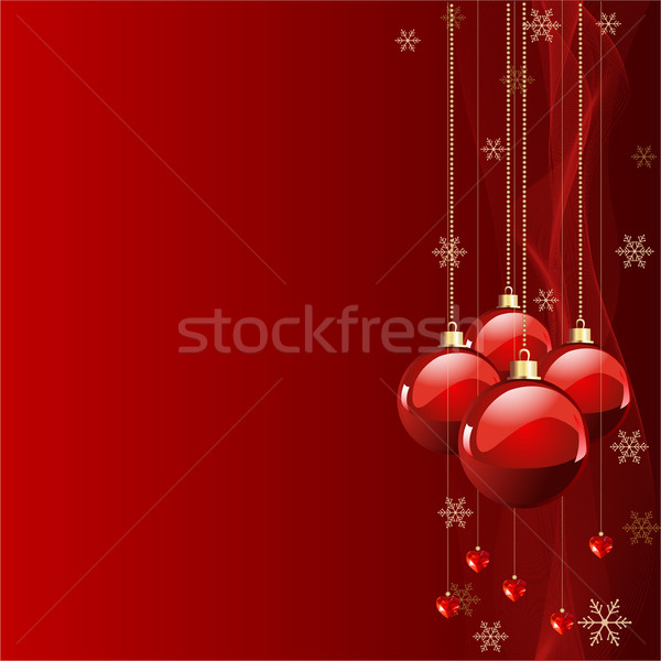 Stock photo: Red colors Christmas background