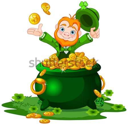 Happy Leprechaun Stock photo © Dazdraperma