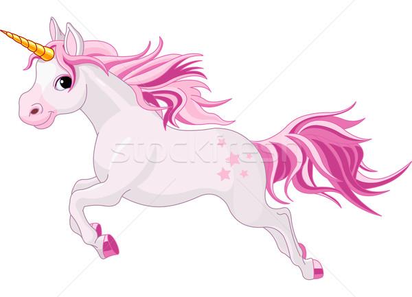 Ejecutando ilustración hermosa rosa Cartoon magia Foto stock © Dazdraperma